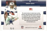 2009 Playoff Absolute Emmitt Smith TOTT Auto # 5/5