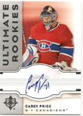 Carey Price 07/08 Ultimate Collection RC Auto #64/99
