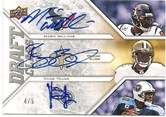 2009 UD Draft Triple Auto of Mario Williams, Reggie Bush, Vince Young #4/5. Pulled by Mark M